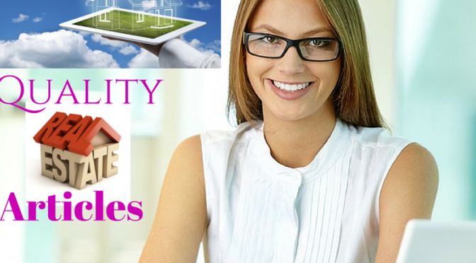 Write 600 words of quality SEO optimized real estate articles