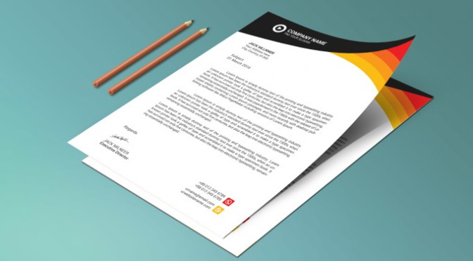 Design creative and eye catching LETTERHEAD Template