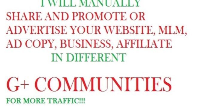 Manually share your website in Google plus communities
