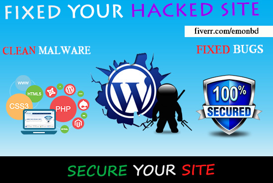 Fix your hacked WordPress website clean malware Hacked Virus