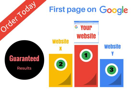 Get you google first page, GUARANTEED