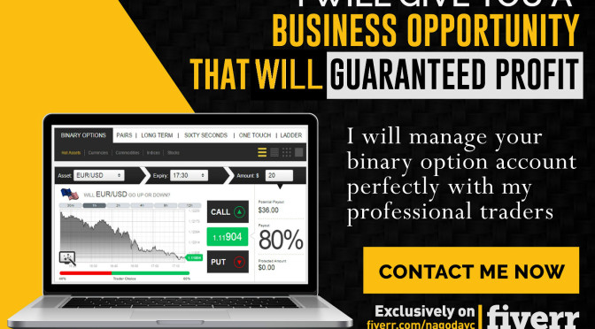 Give You a Business Opportunity That Will Guaranteed Profit