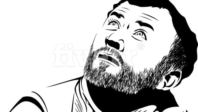 Draw Black,White,Grey vector lineart based your photo,image