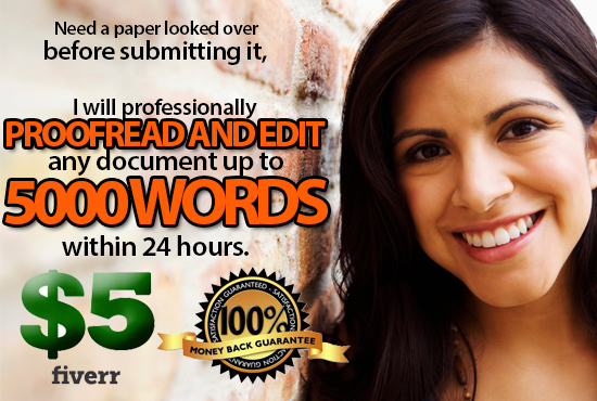 Proofread and edit 5,000 words within 24 hours