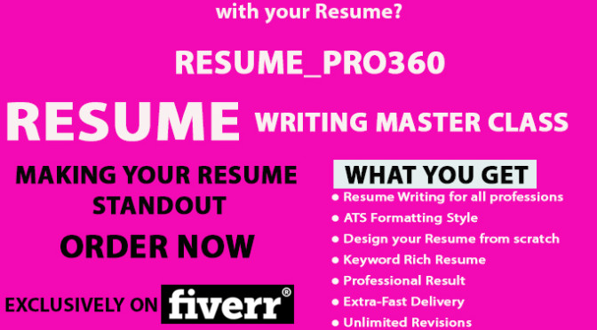 Write, rewrite or design a perfect RESUME Cv and cover letter your resume writer