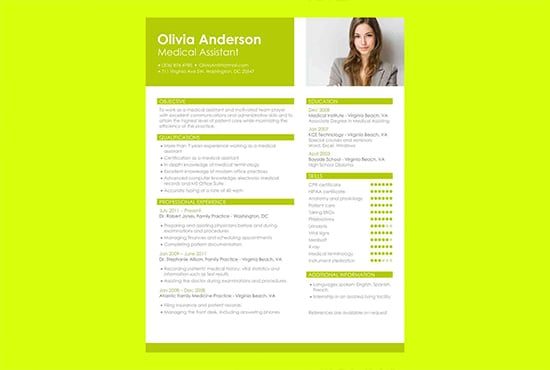 Write you a professional Resume Curriculum Vitae