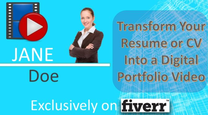 transform Your Resume or CV Into a Digital Portfolio Video