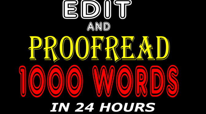 Proofread and edit your book