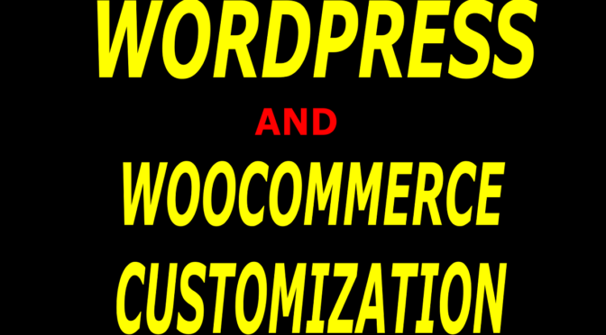 Do your wordpress and woocommerce customization