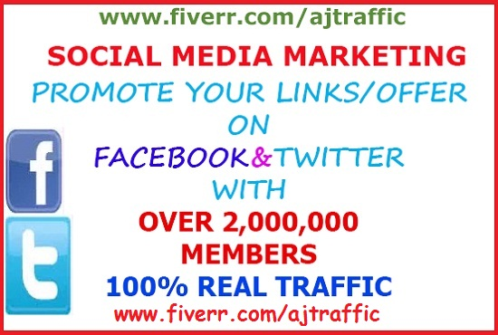 Promote Your Website To Over 2 Million Social Media Members