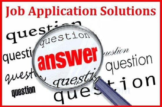 Provide solution to job application questions and essays