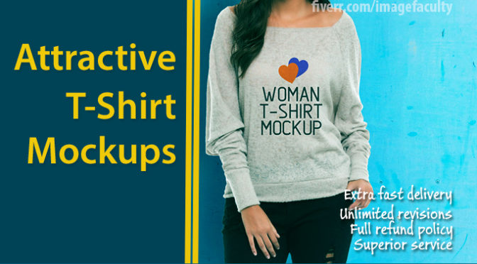 design attractive and realistic tshirt mockups
