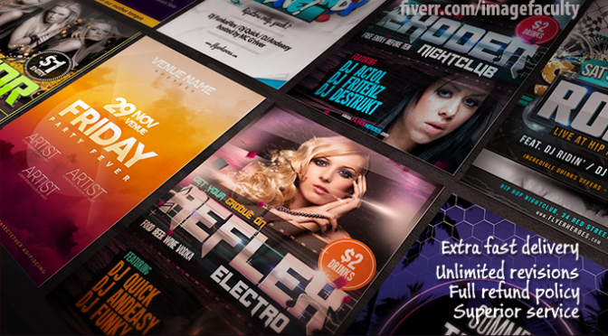design awesome and modern posters, flyers