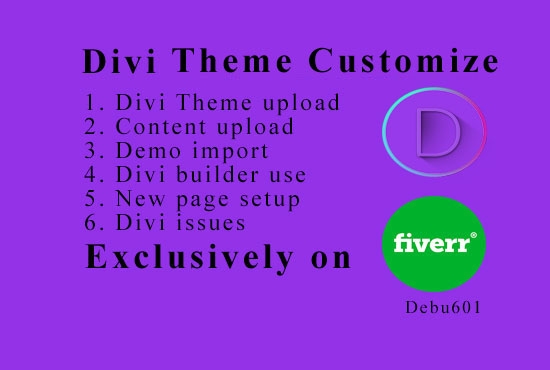 Customize your site using divi theme