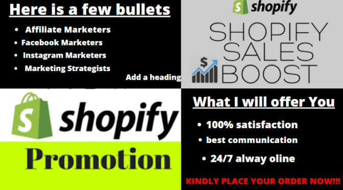 Do Shopify marketing and promotion