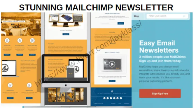 I will design stunning mailchimp newsletter, email template, email automation