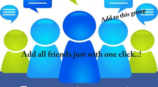 Give you a tool to add all fb friends to a group at once