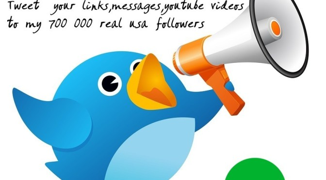Tweet your link to my 700000 real usa followers