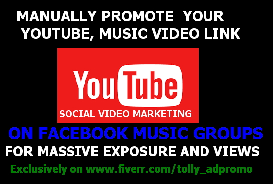 Manually promote your Youtube, Music Video on Facebook music groups