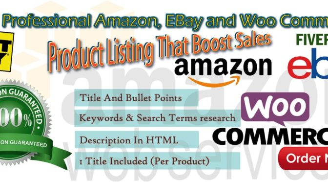 Write a terrific product listing on Amazon and more