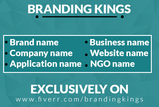 Suggest 10 brand names for your business