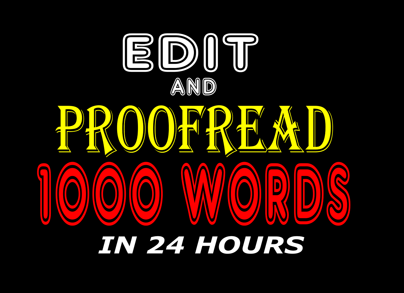 Proofread and edit your book, FiverrBox