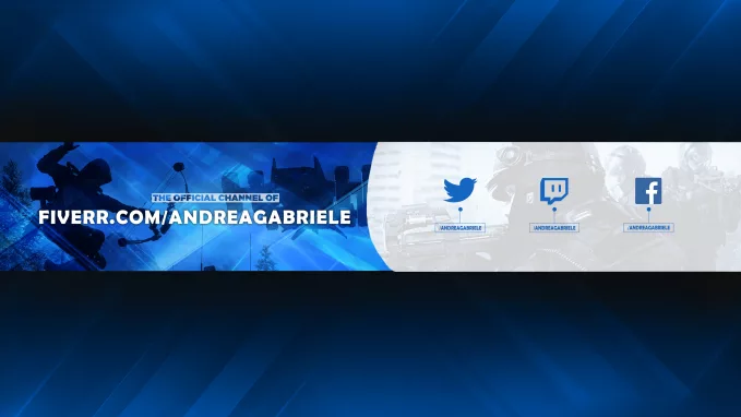 Create An Awesome YouTube Or Twitch Banner, FiverrBox
