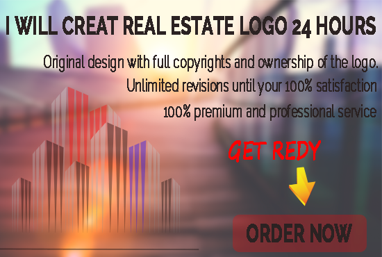 CREATE REAL  ESTATE LOGO 24 HOURS
