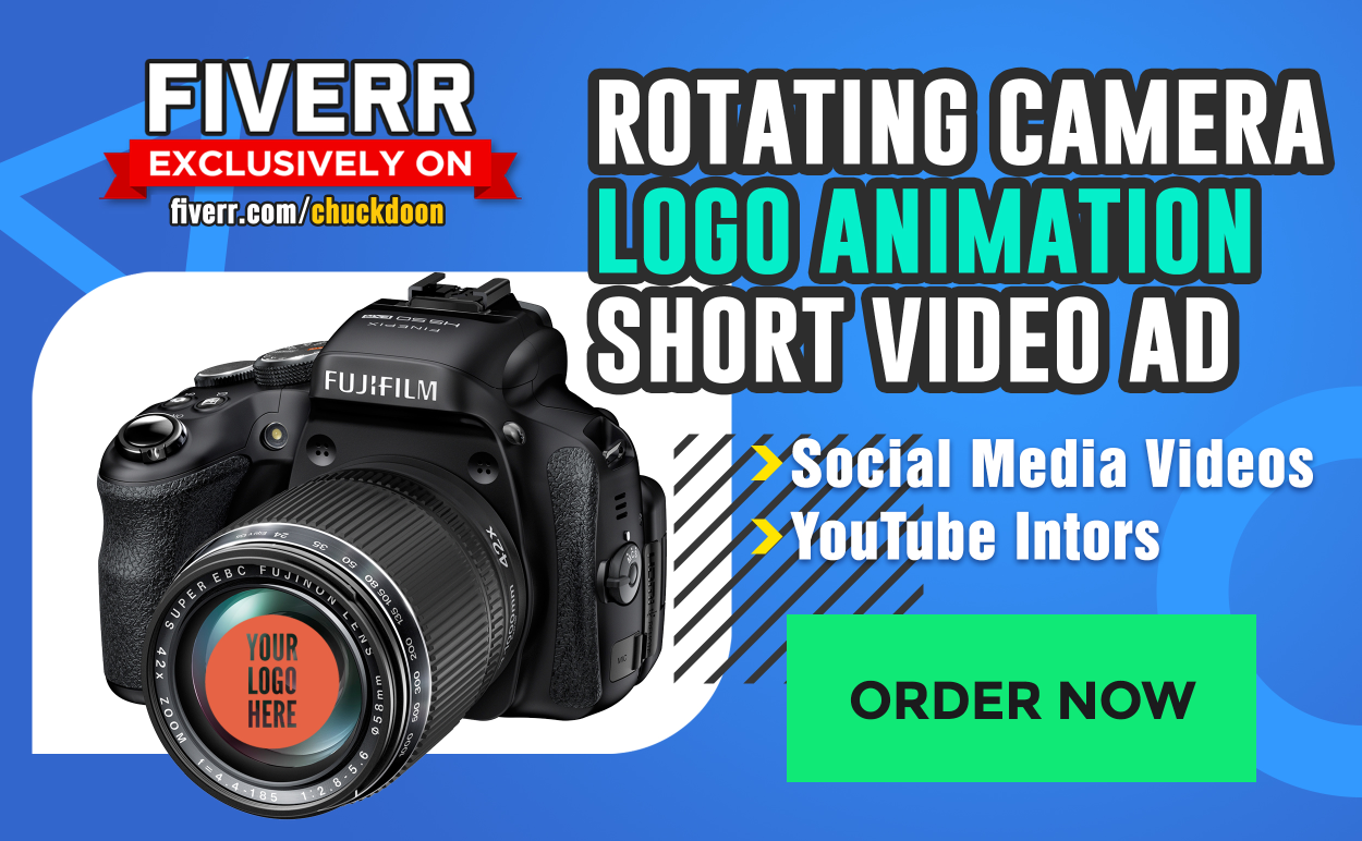 Customize This Camera Video Revealing Your Logo In The Lens, FiverrBox