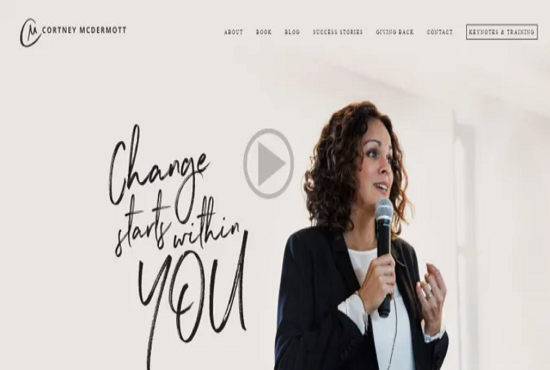 Design coaching and consulting website for authors and coaches, FiverrBox