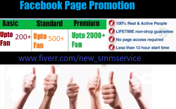 Help to promote your facebook page