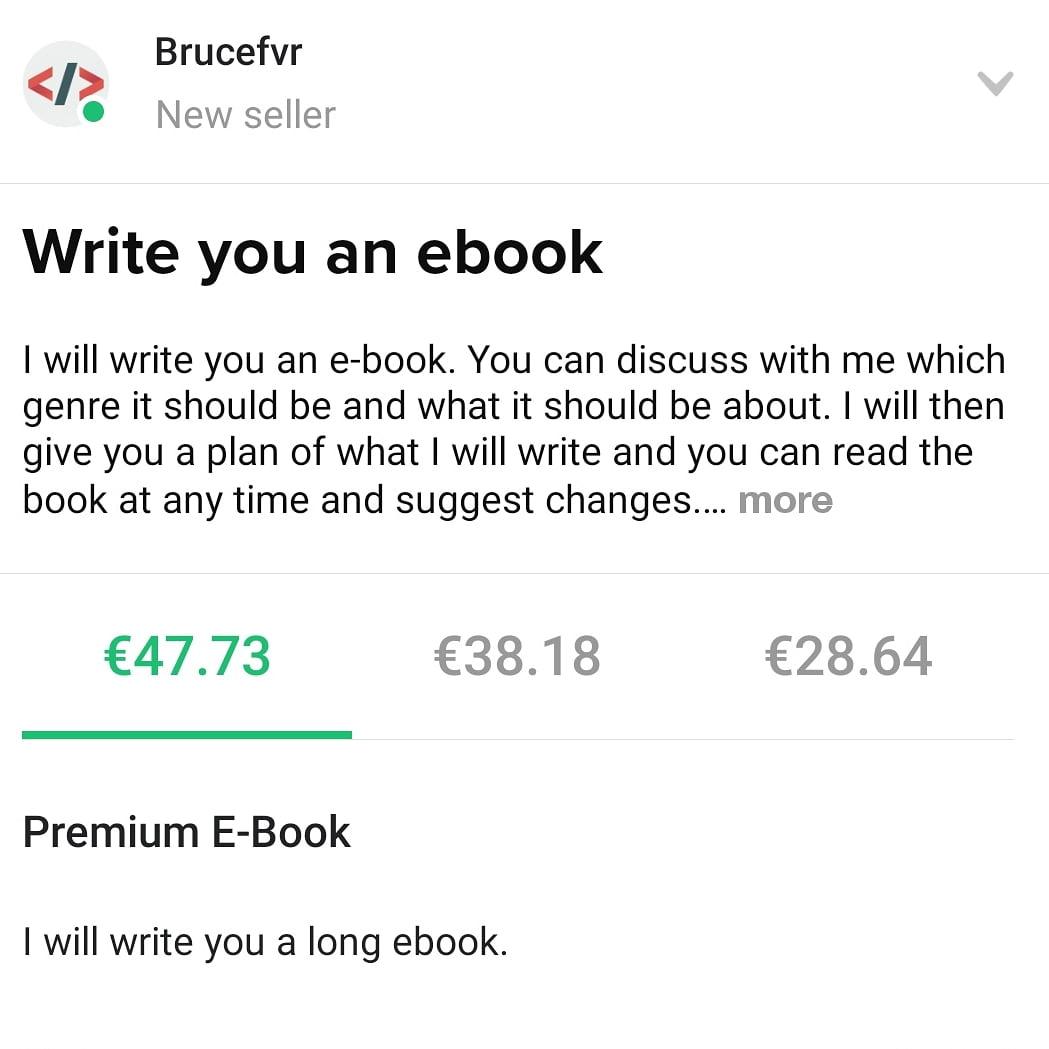 @FvrBruce writes you an e-book, FiverrBox