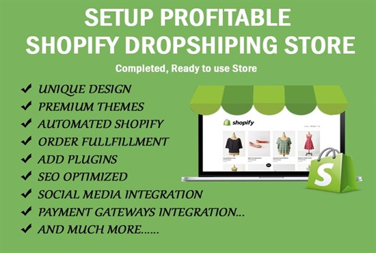 Design high converting shopify website or shopify dropshipping store