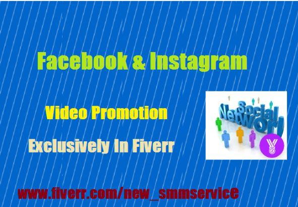 Do facebook or instagram videos promotion, FiverrBox