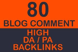 80 SEO blog comments on high authority dofollow backlinks