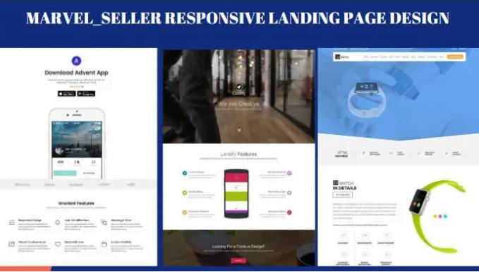 Design responsive landing page, wordpress landing page, elementor landing page, FiverrBox