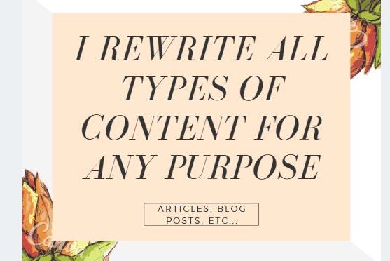 I will manually rewrite articles and website content