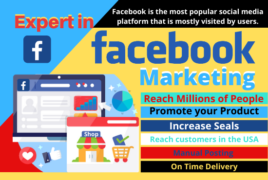 Be your facebook marketing and promotion specialist