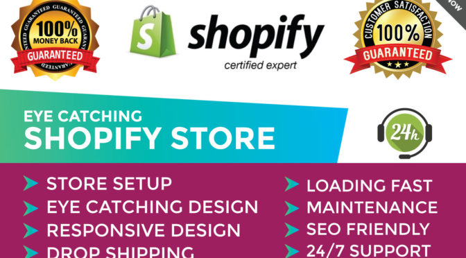 Build a high converting shopify store or dropshipping store with premium quality