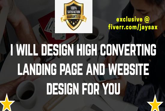 Design custom landing page, wordpress website, sales page, FiverrBox