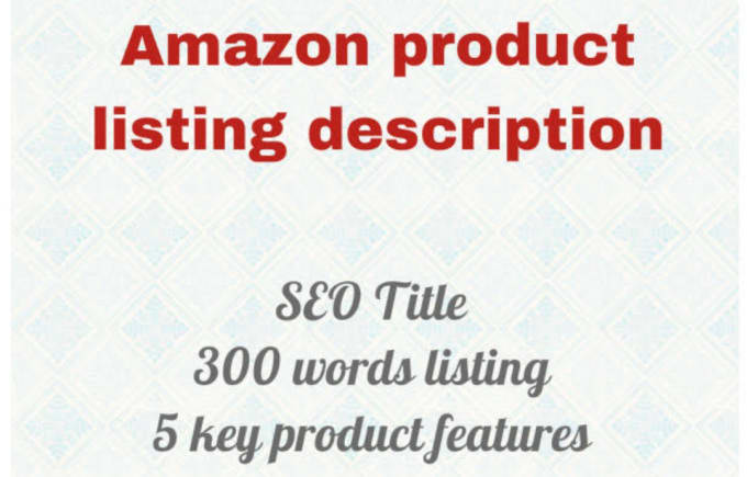 Write the perfect SEO description for your amazon product, FiverrBox