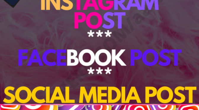 Design modern instagram post, Facebook post Social Media Post