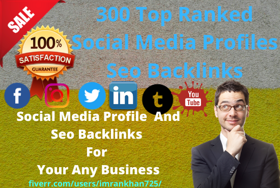 Create 300 social profile for your any business