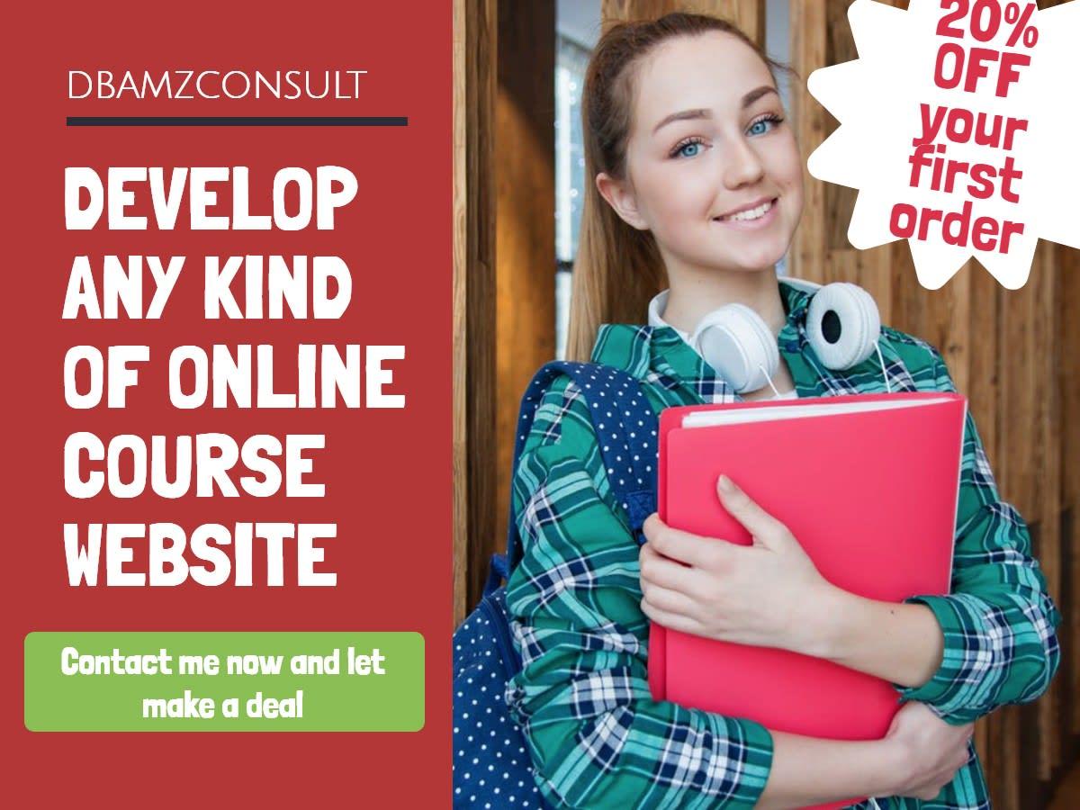 Design LMS Onlne Course Website, Kajabi, Thinkific, And Teachable Online Course, FiverrBox