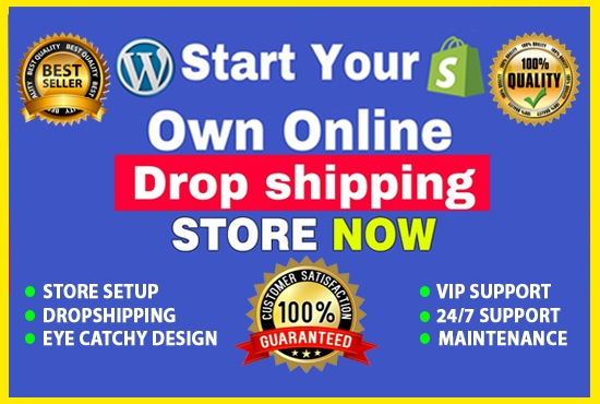 Develop shopify website, shopify store or shopify dropshipping website