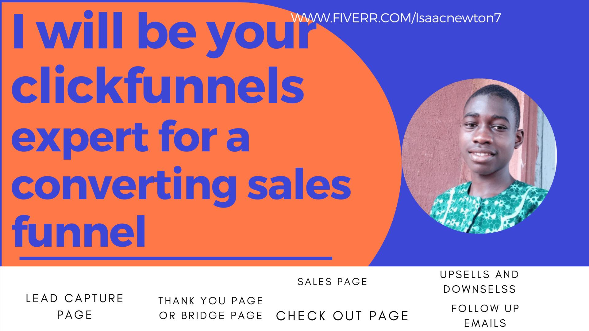 Clickfunnels expert clickfunnels sales funnel or landing page design, FiverrBox