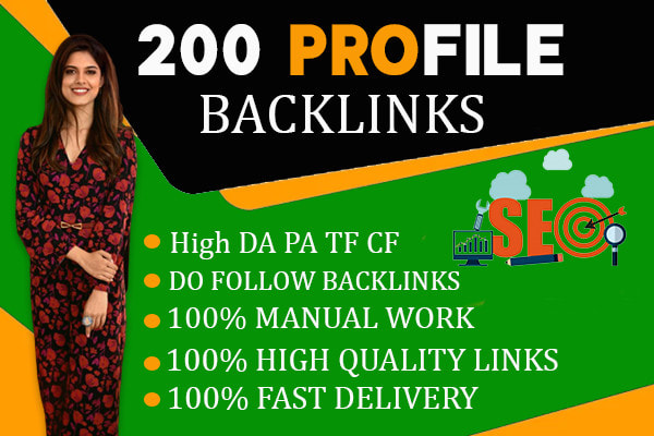 Create high authority white hat manual profile backlinks for fast google ranking, FiverrBox