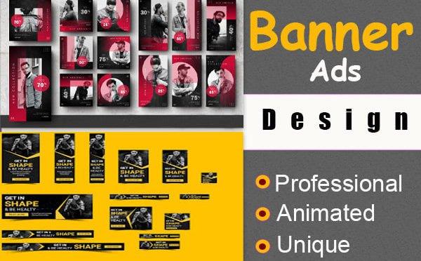 Design a creative professional banner ads