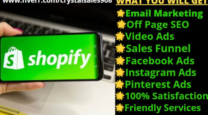Do sales driven facebook marketing shopify store traffic, ecommerce promotion
