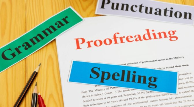 Provide english proofreading and editing services